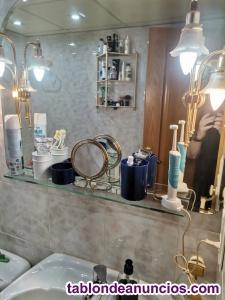 Espejo biselado con alacena y 4 bombillas led