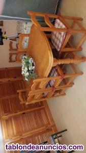 Vendo salón completo madera maciza