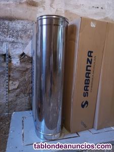 Tubos chimenea acero inox aislados 200/250x1000x0,5