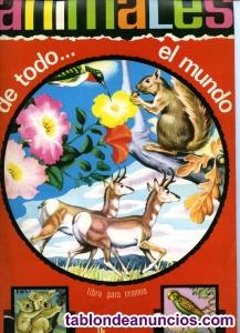 """ÁLBUM CROMOS """"ANIMALES DE TODO EL MUNDO"""""""