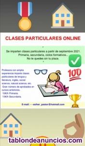 CLASES DE APOYO ONLINE.