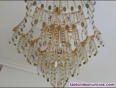 Set 2 lámparas de techo de araña vintage