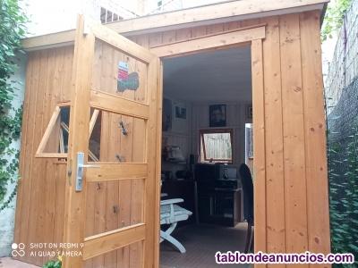 Caseta de madera para jardin