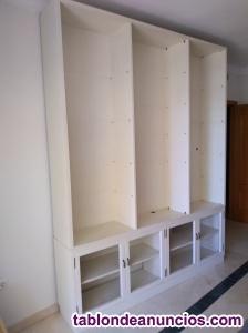 Estante libreria salon 2 piezas blanco