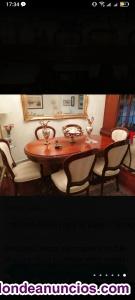 Mesa de salón extensible