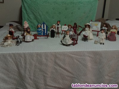 Colección de muñecas de porcelana