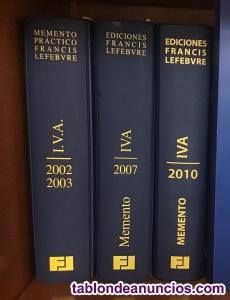 3 MEMENTOS PRÁCTICOS IVA de F. Lefebvre