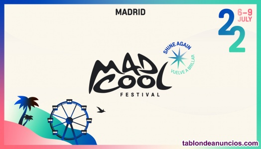 MadCool 2022: entrada para el Jueves 7 de Mad Cool