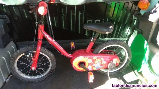 Bici con ruedines es