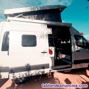 Alquiler de furgoneta nueva camper en Alicante 5 plazas