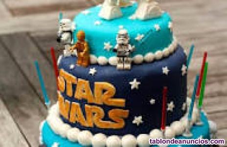 Se realizan tartas fondant para cumpleaños