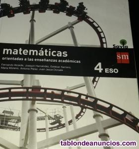 Libro de Matemáticas Académicas 4° Eso