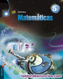 Se vende libro de Matemáticas de 5 de Primaria. Editorial Edelvives