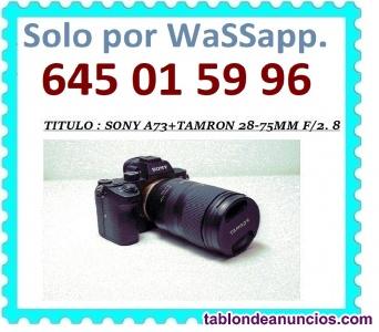 Sony - a73+tamron 28-75mm f/2. 8