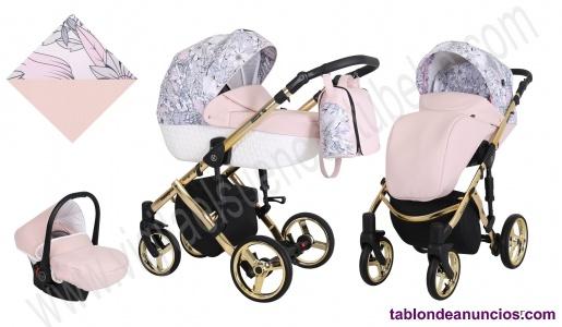 Carro de bebe Tiaro Diamante EcoPiel Dorado