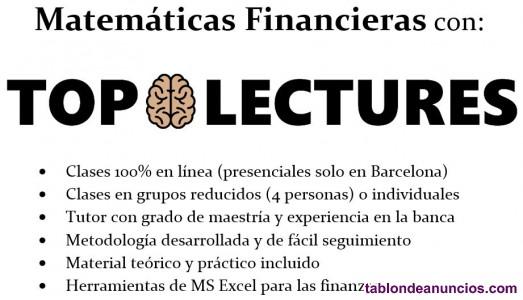 Matemáticas financieras online