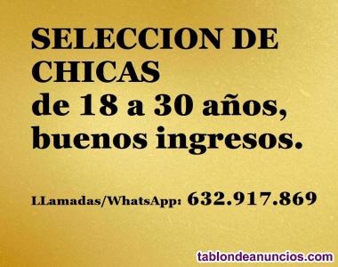 Selección de chicas Edad 18 a 30años- Buenos ingresos