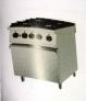 Cocina de 4 fuegos con horno nueva