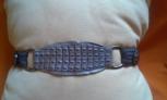 Fotos del anuncio: Cinturon hancho de cocodrilo y tela