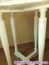 Fotos del anuncio: Mesa de te octogonal antigua restaurada y acabada en decape