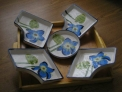 Bandeja de platos de porcelana