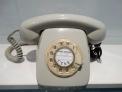 Tel�fono rueda gris con n�meros dorados