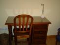 Mesa y silla de estudio de pino