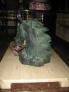 Mesa de cristal y marmol de 110x60x44cm