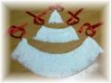 Fotos del anuncio: Vendo farrapos blancos completos con cintas rojas para gaita