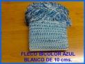 Vendo pieza de fleco bicolor azul-blanco para confeccion flecos gaitas