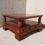 Mesa centro madera 100x100x56cm