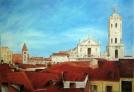 Cuadro al óleo Catedral y La Antigua-Valladolid