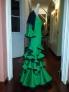 Fotos del anuncio: Vestido de flamenca verde con manton