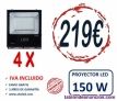 4 x proyector led profesional 150w