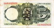 Billete de cinco pesetas j balmes