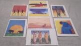 8 laminas motivos africanos de  prime arts