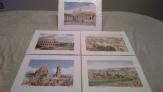 Colección 5 laminas de italia
