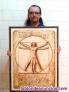 Da vinci - cuadro pirografiado