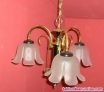 Fotos del anuncio: Lampara bronce. 3 brazos con tulipas