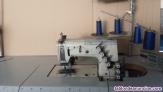 Maquina de coser gomas bañador hombre