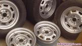 Se vende 5 ruedas (discos de hierro) de un clasico bmw e 21 316 1.8 del año 1982