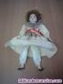 Fotos del anuncio: Muñeca  de cerámica cara, manos y pies, vestido color veis, se puede colocar de