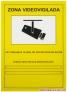 Cartel tamaño A4 pvc de exterior homologado de - Zona Videovigilada -