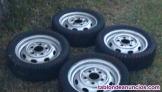4 ruedas para dkw f 1000 d de 15 pulgadas y de 5 tornillos del año 1972