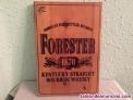 Cartel de madera bourbon - forester
