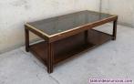 Fotos del anuncio: Mesa auxiliar madera y cristal 120x60cm