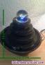 Fuente luminosa de cerámica con  bola de cristal