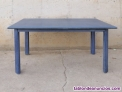 Fotos del anuncio: Mesa madera azul 120x75cm