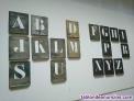 Plantilla metalica de alfabeto para rotular 18 letras de 45 mm faltan las letras