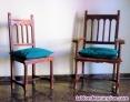 Fotos del anuncio: Vendo silla y sillón de madera maciza tallada